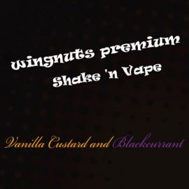 Wingnuts Shortfill Vanilla Custard and Blackcurrant 80ml